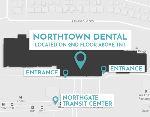 north town dental location map